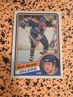Mark Messier 1984 O-Pee-Chee Hockey Card Edmonton Oilers