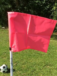 Set of four OTTOPT foldable PINK corner flags with posts, spike and carry bag