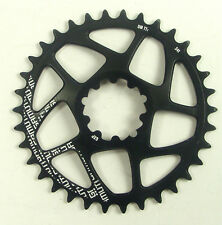 Gamut TTr Thick Thin Bicycle Race Chainring  GXP 34T Black