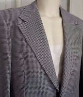 FAB 70s Vintage Mens Wide Lapel Blazer Jacket Size 42R Blue Sportcoat Made USA