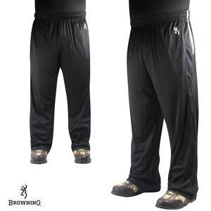 Browning Hawken Lounge / Sweat / Workout Pants- Size L - Black / Moonbeam - NEW!