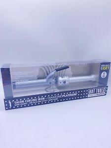 Salon Curling Iron Hot Tools Nano Ceramic-Diamond-Platinum-1'' Heats Up To 450