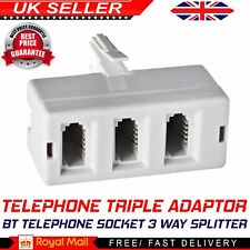 BT Telephone Phone Socket TRIPLE 3 way Splitter Adapter