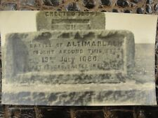 Antique Photograph of Monument Base of Battle of Altimarlach 1680 Scotland