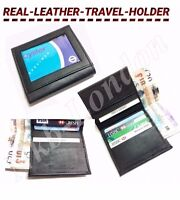 QUALITY Real Leather Credit Card Wallet Holder Slim Travel Business Money UK P&P