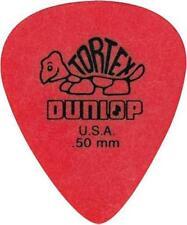 5 x Dunlop Tortex Red 0.50mm Guitar Plectrums / Picks - Brand New