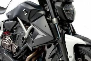Puig 7561J Radiator Side Panel Racing Shield Black fits 14-17 Yamaha FZ-07 MT07