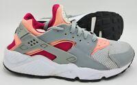 Nike Air Huarache Run Leather Trainers 6348335-086 Bright Mango UK7/US9.5/EU41