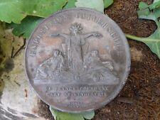 Médaille exposition universelle 1855 Palais de l'industrie Napoléon III en zinc