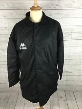 Men's KAPPA Retro Long Coat - XL - Black - Fleece Lined - Great Condition