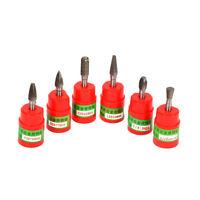 6mm Shank Tungsten Carbide Burr Rotary Cutter Files Set Engraving Tool 6Pcs
