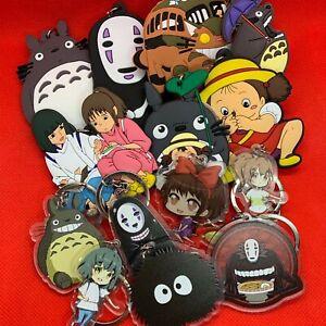 Studio Ghibli Keyring Key Ring Chain - Totoro Catbus No Face Mei Kiki Haku - NEW