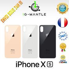 """IPHONE XS / MAX VITRE CACHE ARRIERE EN VERRE QUALITE ORIGINAL """"BIG HOLE"""""""