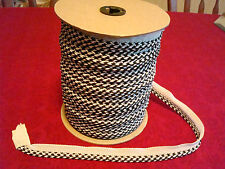 SPOOL~YDS & YDS...Decorative PILLOW~DRAPE Braided Cord~Trim~Black~Off White~7/8""