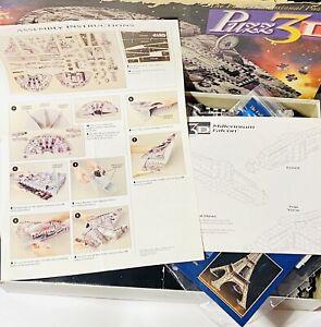 Star Wars Millenium Falcon 3D Puzzle Puzz3D Complete IOB NIB 1995 VTG #4678