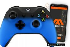 """""""SHADOW BLUE"""" Xbox One S SMART Custom Rapid Fire Modded Controller. FPS mods.COD"""
