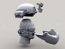 Live Resin, LRE35115, US Army ACH/MICH cabezas moderna en casco, 1:35