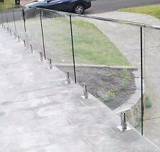 800x970x12mm Frameless Glass Balustrade Panels DIY Handrailing Railing Sydney