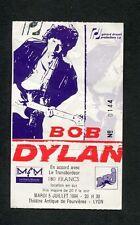 Original Bob Dylan 1994 Concert Ticket Stub Lyon France World Gone Wrong