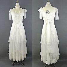 Nataya White Long Formal Dress Wedding GOWN Layered sleeveless puffy skirt S NWT
