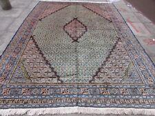 VECCHIO fatto a mano tradizionale Tappeto Persiano Orientale Tappeto Lana Verde Grande 326x238cm