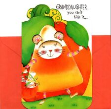 Happy Halloween Granddaughter - Mouse in A Candy Corn Costume Greeting Card