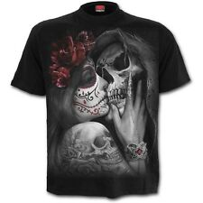 Spiral Direct Muerto Kiss Camiseta/Tatuaje/Calavera/ Demonio/ Love / Goth / Rosa
