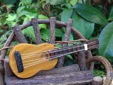Miniature Dollhouse FAIRY GARDEN Accessories ~ Wood Guitar ~ NEW