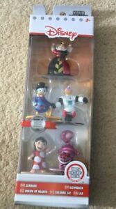 Disney Metal Diecast set of 5 figures Scrooge mcduck Lilo Cheshire Cat New
