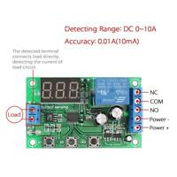 New 12V 0-10A DC Current Detection Sensor Module Delay Time Relay Control W6U4