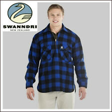 SWANNDRI MENS BLUE RANGER WOOL SHIRT 345 GSM 3 LAYER NZ OUTDOORS CAMPING