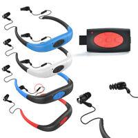 16GB IPX8 WATERPROOF MP3 MUSIC PLAYER SPORT SWIMMING DIVING FM RADIO EARPHONE BS