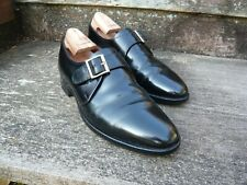 JOSEPH CHEANEY MONK STRAP SHOES – BLACK - UK 9 – SELBY - GOOD CONDITION