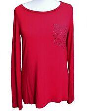 TAIFUN Gerry Weber Women's UK 10 Long Sleeved Basic Top Shirt Tunic Soft Modal