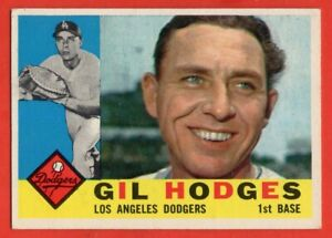 1960 Topps #295 Gil Hodges EX-EXMINT Brooklyn Los Angeles Dodgers FREE SHIPPING