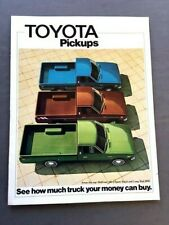 1975 Toyota Pickup Truck Original Car Sales Brochure Catalog