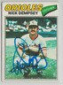 Rick Dempsey 1977 Topps signed auto autographed card Orioles