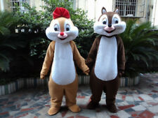 Chip and Dale Chipmunk Squirrel Mascots Costume Adults Size Birthday Party Dress