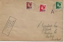 1936 (26 OCT)KING EDWARD VIII SET OF 3 ON TANGIER O/P FDC TO ENGLAND REF 190