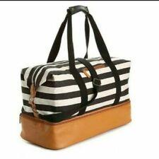 DSW Weekender Bag Duffle Travel Gym Black White Padded Ultra Lightweight B&W NEW
