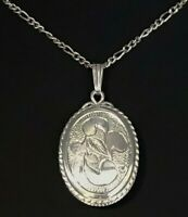 VINTAGE CLASSIC LADIES Charming Sterling Silver 925 Locket and Chain