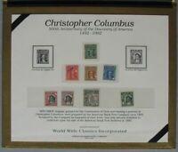 s610) Chile  Columbus 500th Anniversary 1992  ** Specimen Set in special folder
