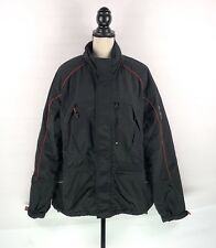 TOMMY HILFIGER Ski Snow Jacket Mens Size XL Black Zip Nylon Polyester Winter