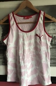 Puma Sleeveless Sport Summer Gym Top Vest Size 12