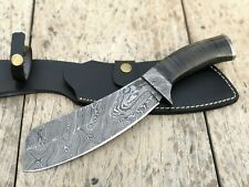 Professional Kitchen Knife, Handmade Damascus Steel Meat Cleaver, Chef Knife