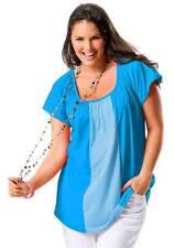 Shirt blau Freizeitshirt Damenshirt Kurzarm Gr 44/46 Your Life your Fashion