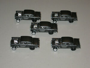 Hot Wheels = Walmart's Black Hole = 1955 '55 Chevy Bel Air Gasser = Lot Of 5