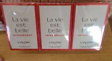 LANCOME LA VIE EST BELLE INTENSEMENT 12 X L'EAU DE TOILETTE SAMPLES VIALS LADIES