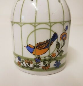 Pretty Birdcage Shape Ceramic Hanging Pomander Bird Design Wardrobe Freshener