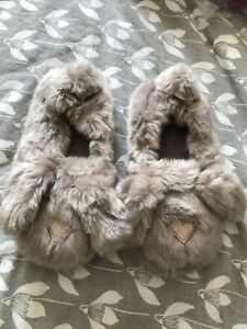 NEXT Fluffy Bunny Slippers Ladies L 7/8